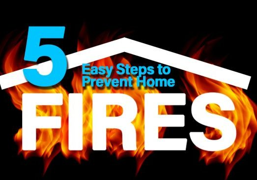 5 Easy STeps to Prevent Home Fires